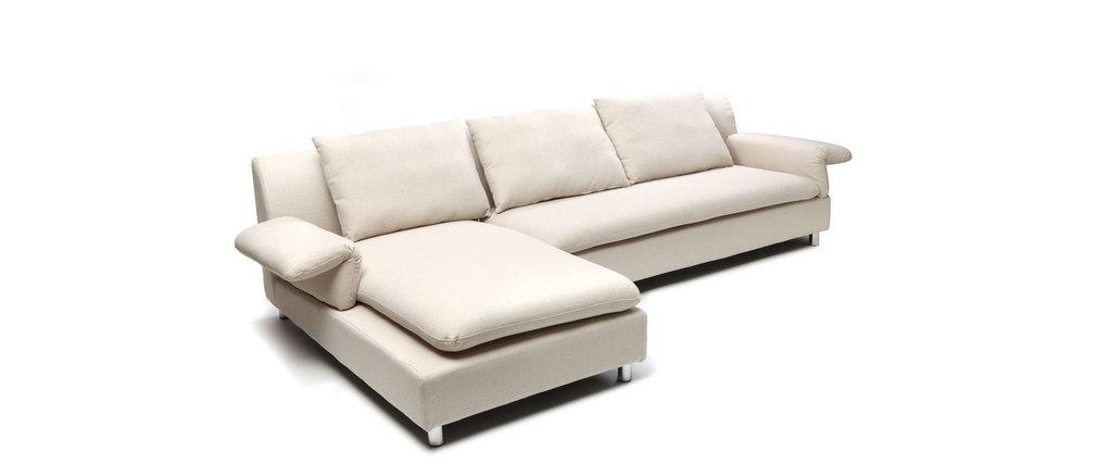 Sofá de esquina reversible diseño crema BRASILIA