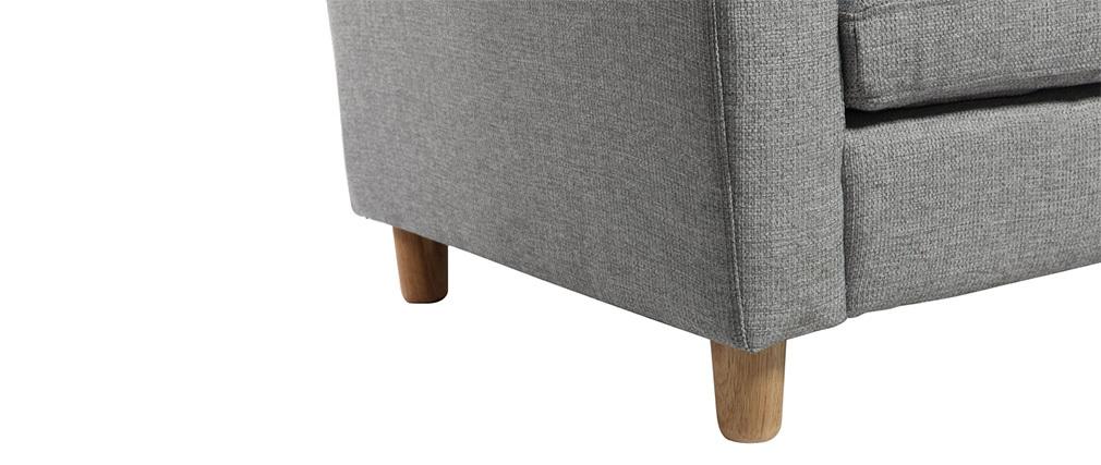 Sofá de esquina reversible diseño gris ALAMO