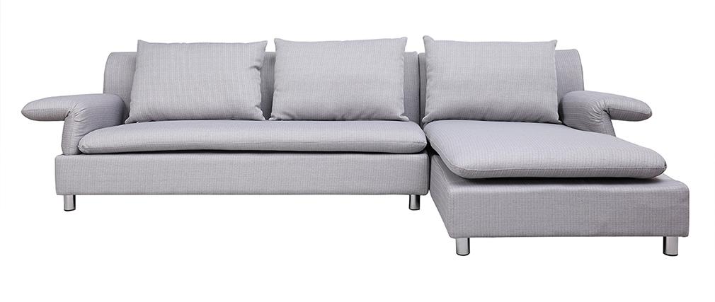 Sofá de esquina reversible diseño gris BRASILIA