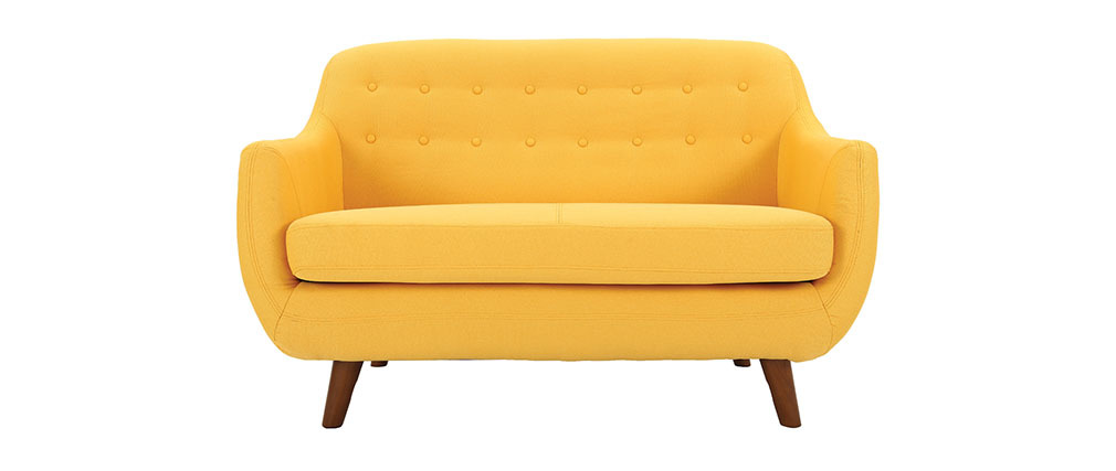 Sofá diseño 2 plazas amarillo YNOK
