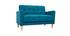 Sofá diseño 2 plazas azul petróleo MOON