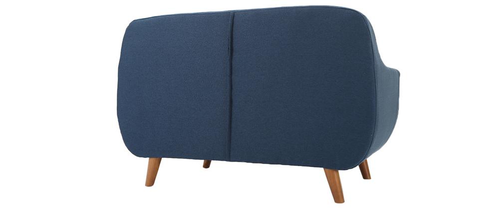 Sofá diseño 2 plazas azul YNOK