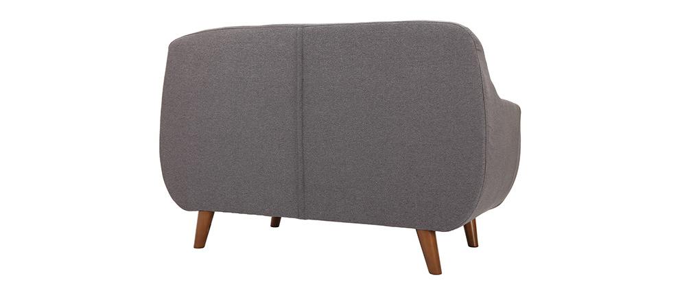 Sofá diseño 2 plazas gris antracita YNOK