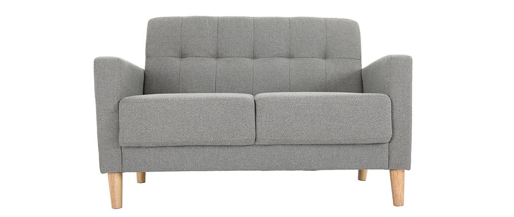 Sofá diseño 2 plazas gris MOON