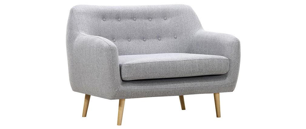 Sofá diseño 2 plazas gris perla OLAF