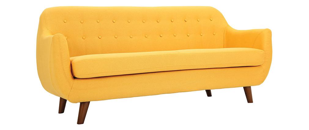 Sofá diseño 3 plazas amarillo YNOK