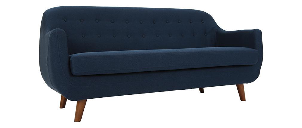 Sofá diseño 3 plazas azul YNOK