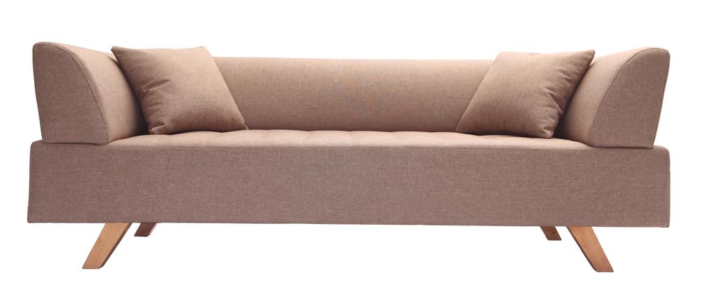 Sofá diseño 3 plazas beige - ARTIC