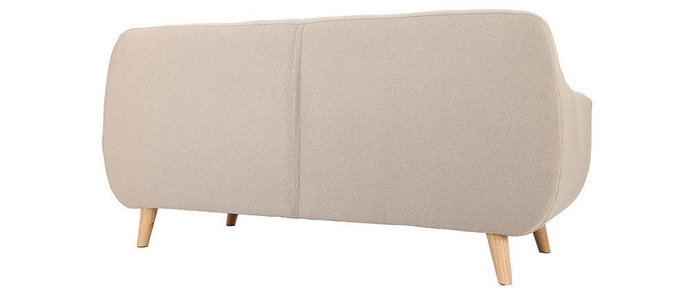 Sofá diseño 3 plazas beige YNOK