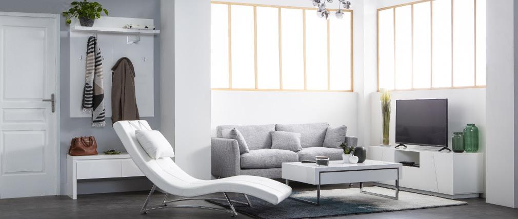Sofá diseño 3 plazas diseño gris claro VOLUPT
