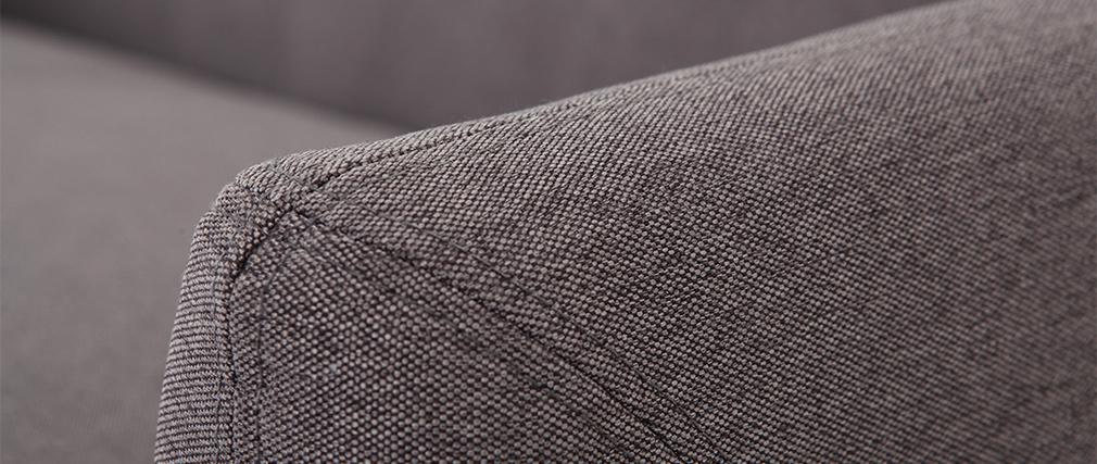 Sofá diseño 3 plazas gris antracita YNOK