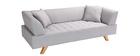 Sofá diseño 3 plazas gris ARTIC
