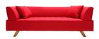 Sofá diseño 3 plazas rojo - ARTIC
