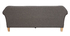 Sofá diseño clásico gris claro 3 plazas MELI