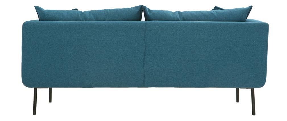 Sofá diseño contemporáneo 3 plazas azul petróleo MATHIS