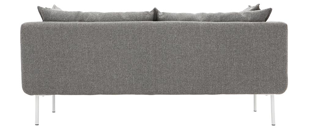 Sofá diseño contemporáneo 3 plazas gris claro MATHIS