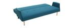Sofá diseño convertible azul OSCAR