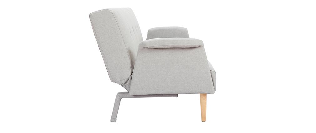 Sofá diseño convertible gris claro OSCAR