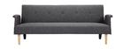 Sofá diseño convertible gris oscuro OSCAR