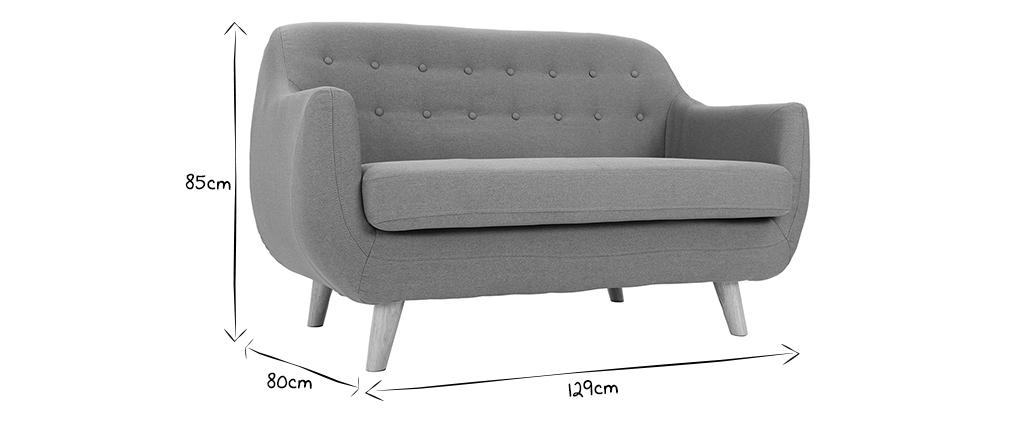 Sofá diseño dos plazas gris YNOK