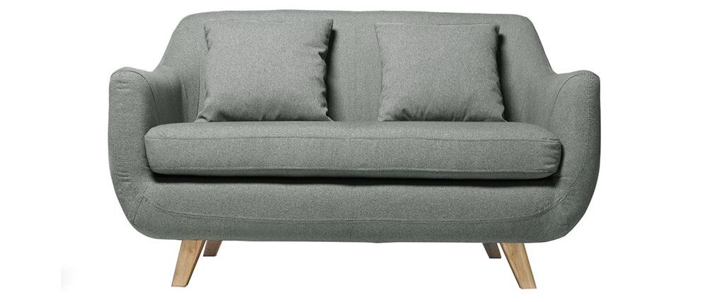 Sofá diseño escandinavo 2 plazas gris SKANDI