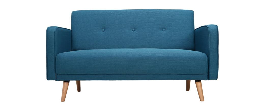 sofá escandinavo 2 plazas azul ULLA