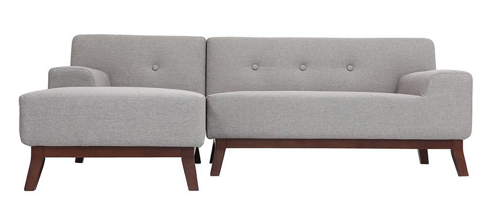 Sofá esquinero de diseño gris VILA