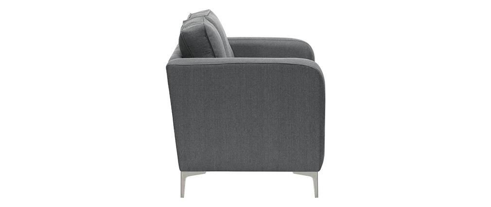 Sofá moderno 2 plazas gris claro HARRY