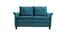 Sofá moderno en terciopelo azul petróleo 2 plazas CLIFF