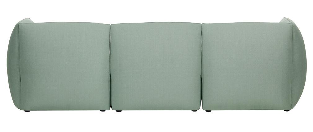 Sofá moderno modulable azul claro 3 plazas MODULO