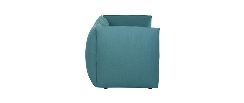 Sofá moderno modulable azul petróleo 3 plazas MODULO