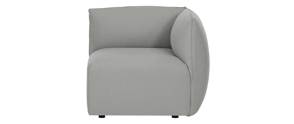 Sofá moderno modulable gris 3 plazas MODULO