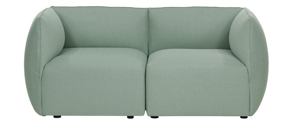 Sofá moderno modular azul claro 2 plazas MODULO