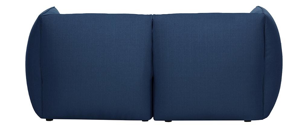 Sofá moderno modular azul oscuro 2 plazas MODULO