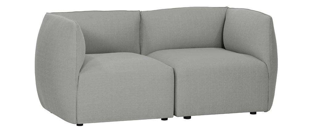 Sofá moderno modular gris 2 plazas MODULO
