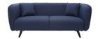 Sofá moderno tejido azul oscuro 3 plazas MOONLIGHT