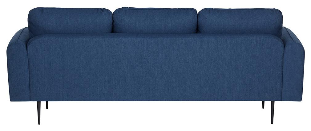 Sofá moderno tejido azul oscuro 3 plazas SIDI