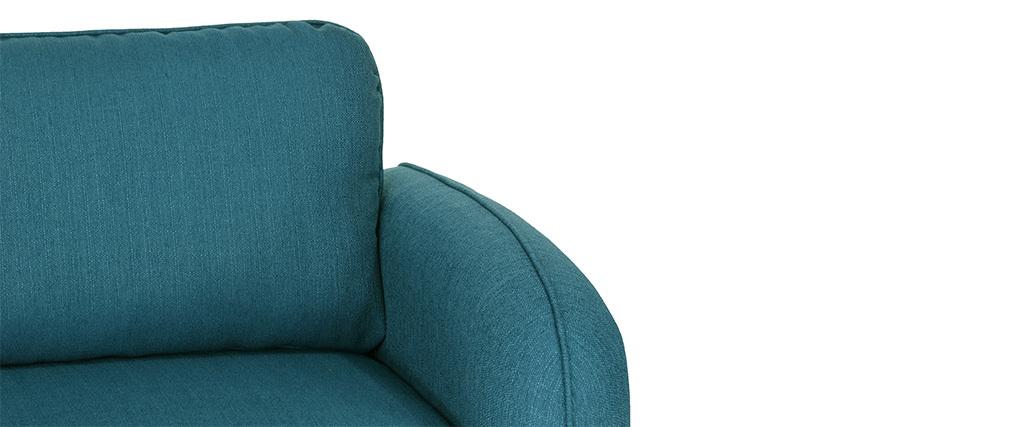 Sofá moderno tejido azul petróleo 3 plazas SIDI