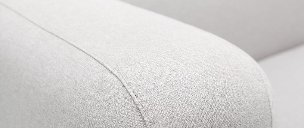 Sofá moderno tejido gris 2 plazas BACIO
