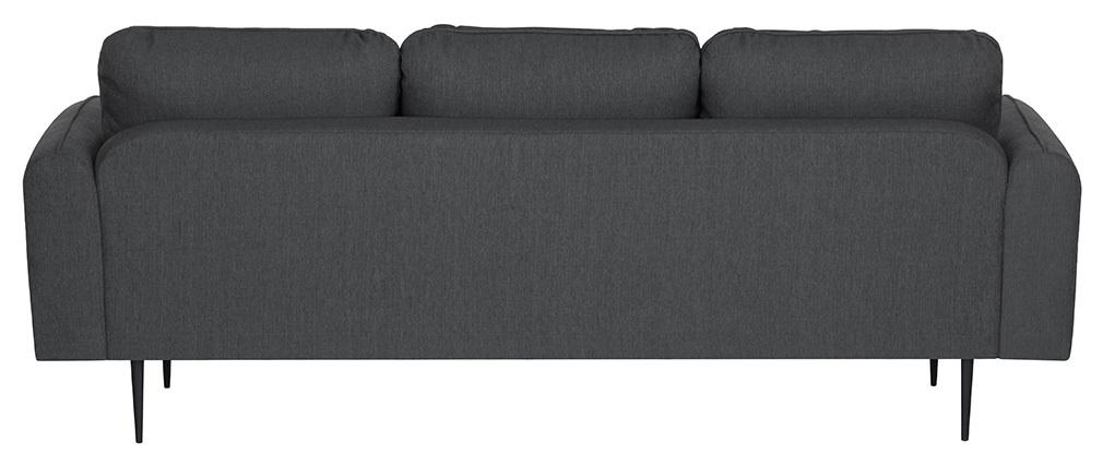 Sofá moderno tejido gris oscuro 3 plazas SIDI