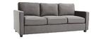 Sofá moderno terciopelo gris oscuro 3 plazas BROOKLYN
