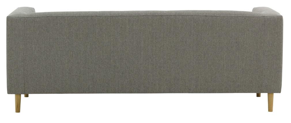 Sofá moldernp tejido gris claro 3 plazas FRANN