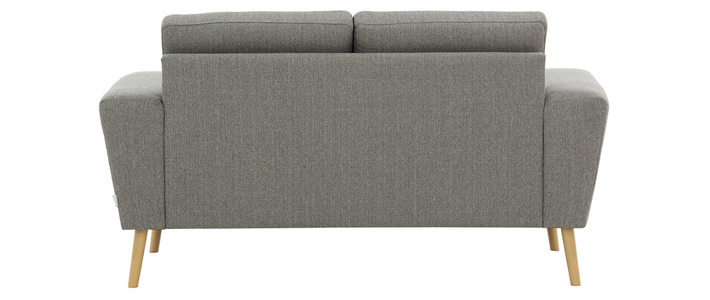 Sofá nórdico 2 plazas en tejido gris claro MOCAZ