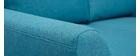 Sofá nórdico 2 plazas tejido azul petróleo ALICE