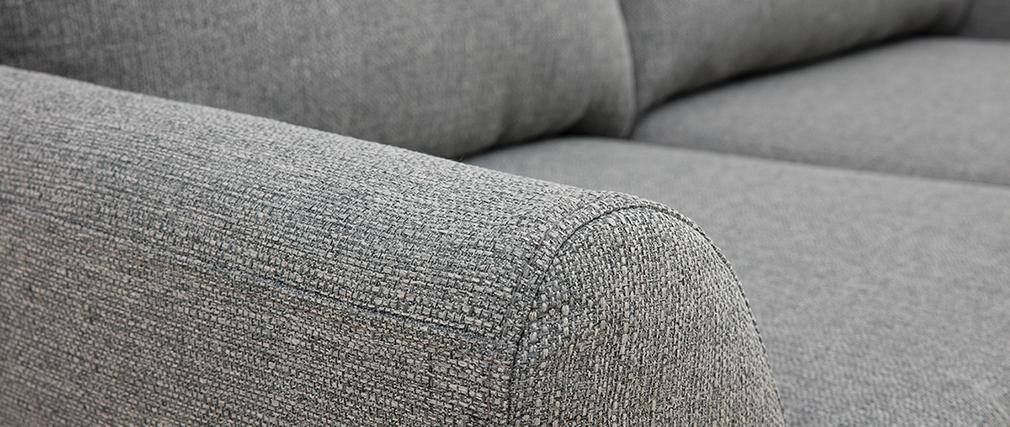 Sofá nórdico 2 plazas tejido gris claro ALICE