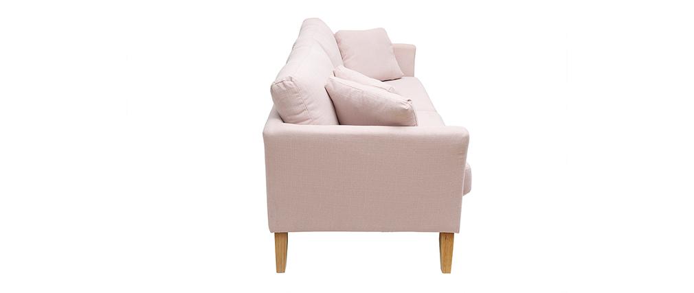 Sofá nórdico 3 plazas desenfundable desenfundable rosa OSLO