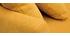 Sofá nórdico 3 plazas desenfundable efecto terciopelo amarillo mostaza OSLO