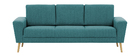 Sofá nórdico 3 plazas en tejido azul petróleo MOCAZ