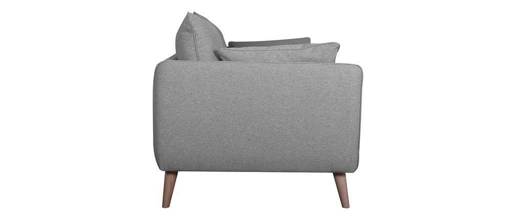 Sofá nórdico 3 plazas gris claro GUILTY