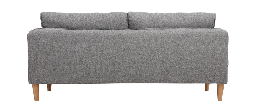 Sofá nórdico 3 plazas terciopelo gris claro KURT